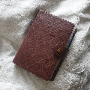 Vintage rare CHANEL agenda notebook cover planner